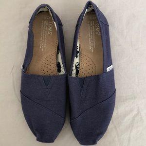 Navy Blue Toms 7.5